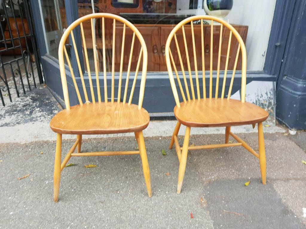 Pair of ercol dining chair