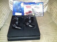 PS4 SLIM 500GB .. 2 CONTROLERS.. 3 GAMES..NOT XBOX ONE 1TB PS3 PLAYSTATION WII VR