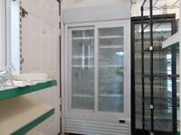 double glass sliding door fridge. Cosmetically good, thermostat not working