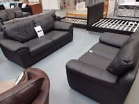 Brand New 3+2 Leather Match Sofa. Real Leather On All Main Bits And Bonded At Sides And Back.