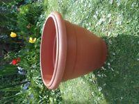 Large Plastic Terracotta Round Planter