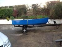 13ft (new)wooden boat trailer oars
