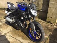 Yamaha MT-125. Low mileage and heated grips. £3,250 ono