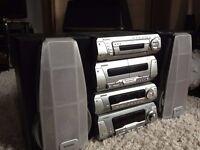 Technics H Plus Hi Fi 5 Disc CD//MP3 System