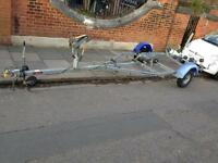 Boat trailer Indespension rollercoaster 18 feet AS NEW