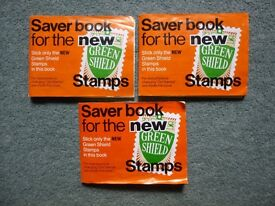 Retro - 3 books of Green Shield Stamps