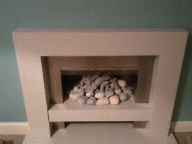 Gas fireplace, surround and hearth for sale