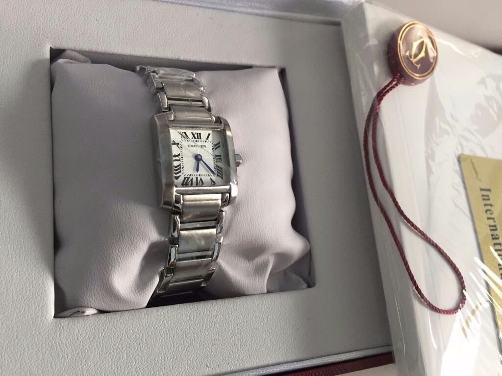 New Swiss Ladies Cartier Tank Francaise Watch