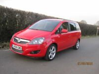 Vauxhall Zafira Exclusiv diesel 7 seats, long MOT and just been serviced