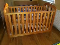 Obaby Lily dropside cot bed in pine