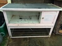 Two storey rabbit hutch