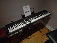 Stage Piano by Gear4music + Stand, Pedal, Bench and Headphones