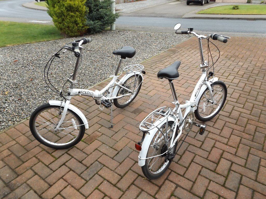 Two Folding bicycles.