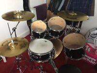 Black Mapex V Series Drum Kit