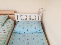 Nearly new white IKEA kids bed and mattress