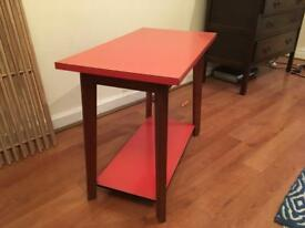 Pink Formica coffee side table