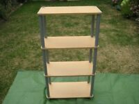 Beech Wood Shelf Unit with 4 Shelves for £25.00