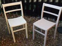 2 x Solid wooden chairs