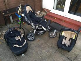Jane Slalom Push Chair, Car Seat and Carry Cot