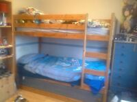 Bunk Beds - Very sturdy with storage under bottom bunk