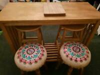 Table with four stools