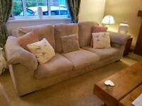DFS suite Sofa 3 seater + 2 seater sofa bed and pouffe sofabed