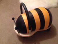 Wooden ride-on wheely bug bee