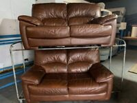 DESIGNER 2 PIECE REAL ITALIAN 2 x 2 SOFA SET EXCELLENT CONDITION FREE DELIVERY
