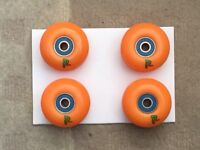 *QUICK SALE* Enuff skateboard wheels 52mm with bearings #NewNeverBeenUsed.