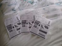 3 Byonce tickets for Croke Park, 9th July, side by side