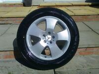 ALLOYS X 4 OF 18 INCH GENUINE MERCEDES ML 4X4 FULLY POWDERCOATED INA STUNNING SILVER SPARKLE NICE