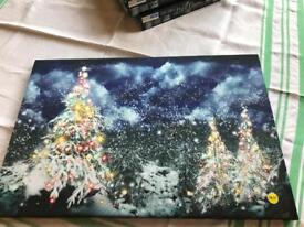 LED Christmas tree scenic picture