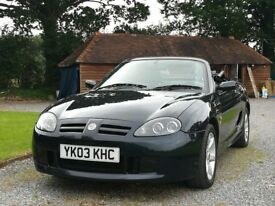 MG,tf 135. 2003.in Pearl Black with 35k. Mot & recent Service. immaculate condition