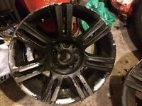"Genuine bmw wheels 17"" staggered 1 with a good tyre"