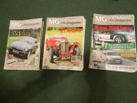 MG Enthusiast magazines 2000, 2001 and 2002