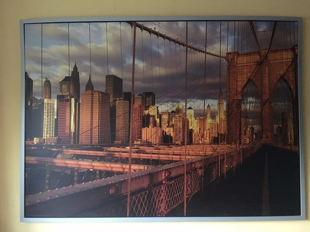 ikea new york brooklyn bridge canvas in banbury oxfordshire gumtree. Black Bedroom Furniture Sets. Home Design Ideas
