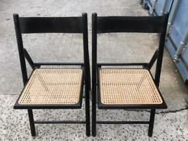 2 rush seated folding chairs FREE DELIVERY PLYMOUTH AREA