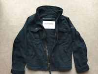 Abercrombie & Fitch Boys Navy Jacket Size Small Approx 8-10 years Very Good Condition