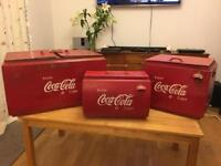 x3 Rare 1940s/50s Vintage Coca Cola / Coke Cooler Boxes Memorabilia Americana USA