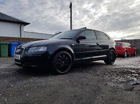 Audi A3 1.9 TDI 3DR Black Full MOT