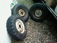 3 genuine mini wheels