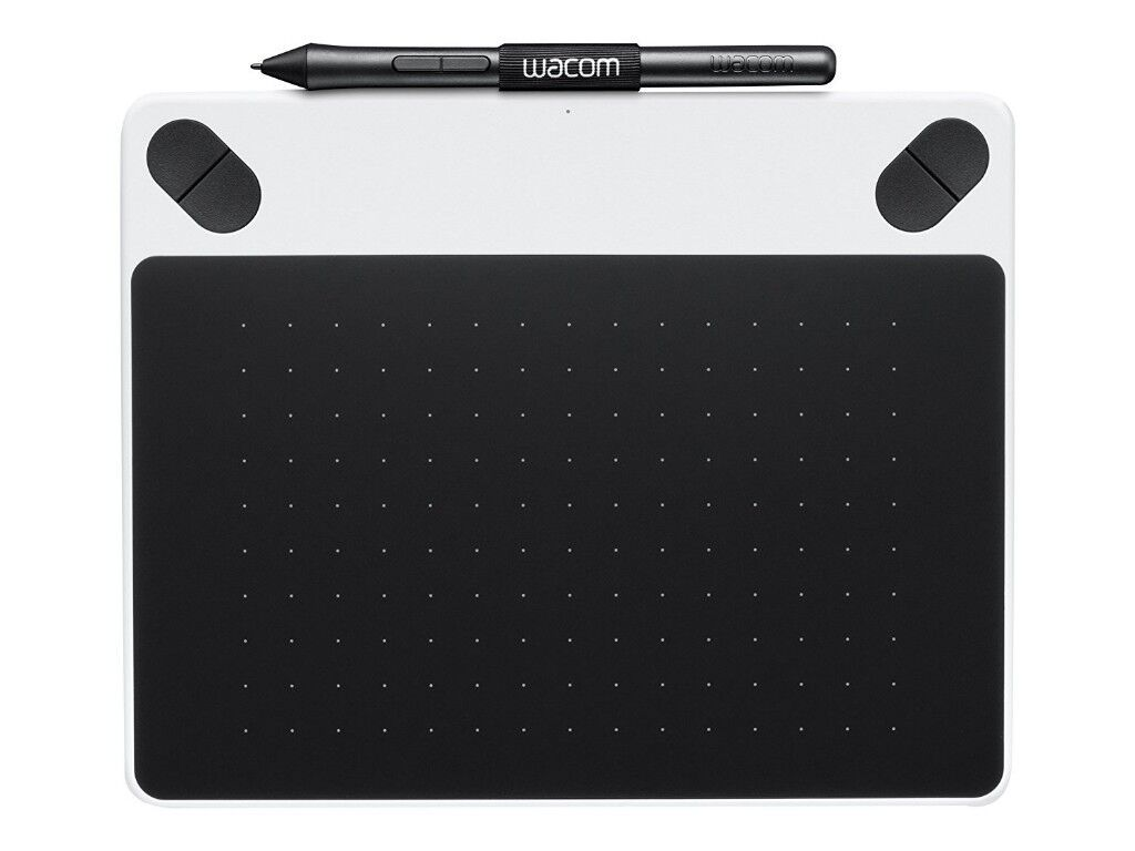 Wacom INTUOS Draw Pen Graphics Tablet in White, Like NEW, used two or three times only!
