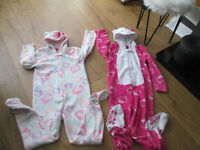 VARIOUS GIRLS PJS X5 - AGE 8-9 - FROM £3.00 - GC