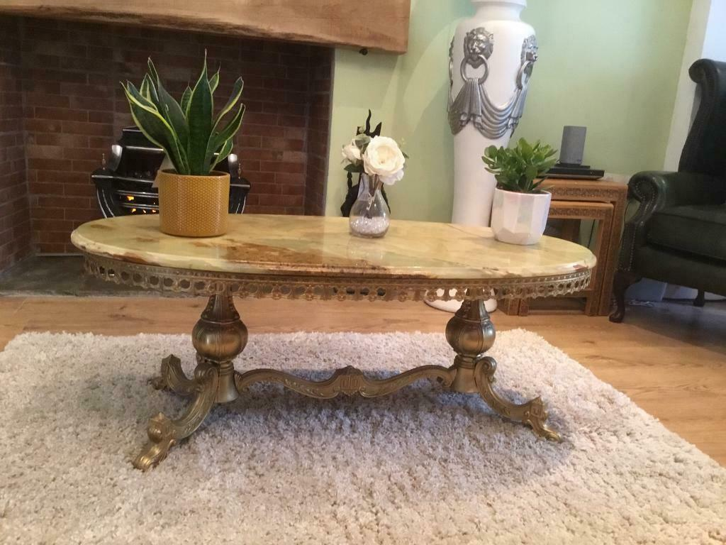 Groovy Stunning Onyx Brass Coffee Table In Neath Neath Port Talbot Gumtree Uwap Interior Chair Design Uwaporg