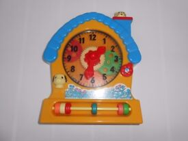 (246) Asda Play and Learn Clock House for baby 18 months+