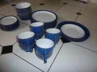 Denby Imperial Blue Dinner Service / Plates / Mugs / Bowls / Jug /