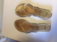 Marks and Spencer Gold Slippers Size 8