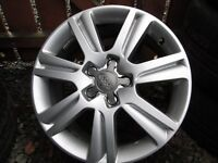 """GENUINE AUDI A4 17""""ALLOYS, WITH OR WITHOUT TYRES"""