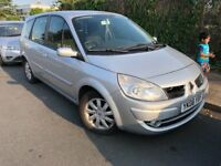 7 SEATERS 2008 AUTOMATIC Renault Grand Scenic 2.0 VVT Dynamique 5dr. Long MOT V5 READY. PETROL