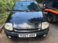 2001 Renault Clio Etoile 5dr 1.4 Petrol Black BREAKING FOR SPARES